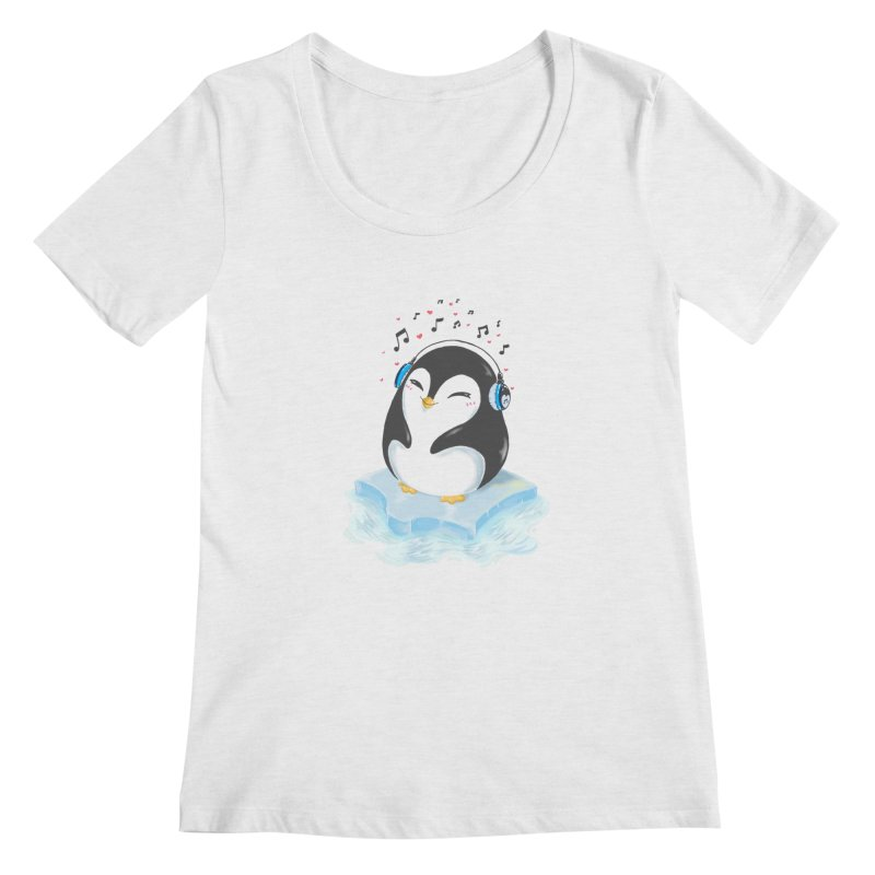 Penguin Women's Regular Scoop Neck by Black and White Shop