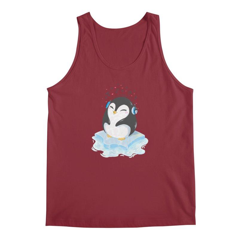 Penguin Men's Regular Tank by Black and White Shop