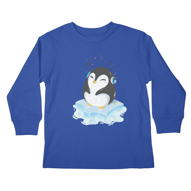 Penguin Kids Longsleeve T-Shirt by Black and White Shop