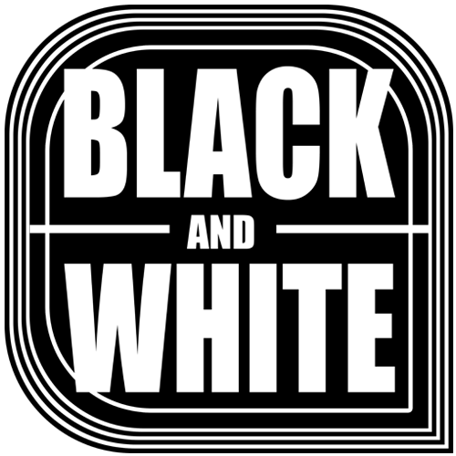 Black and White Shop Logo
