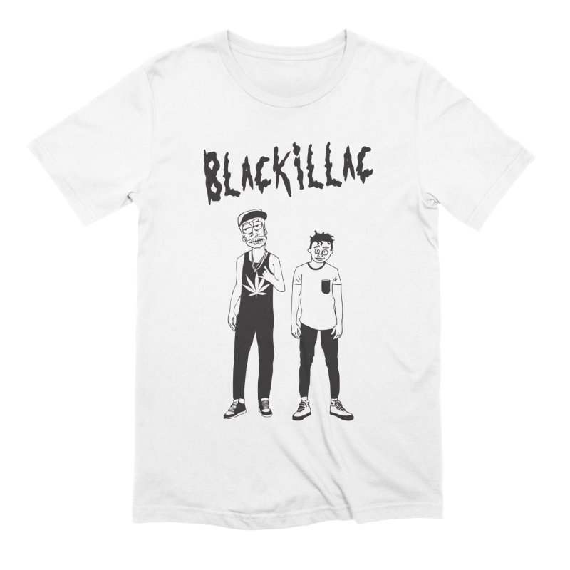 Black & Morty Tee (W) in Men's Extra Soft T-Shirt White by Blackillac's Black Market
