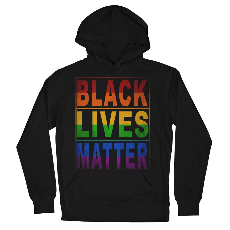 Black Lives Matter - Pride Men's French Terry Pullover Hoody by Cool Black Chick
