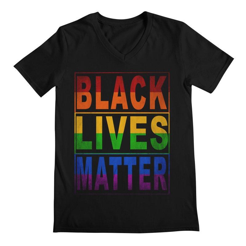 Black Lives Matter - Pride Men's V-Neck by Black Liberation