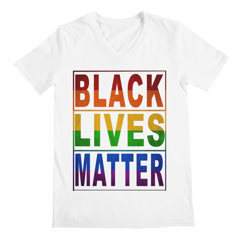 Black Lives Matter - Pride Men's Regular V-Neck by Cool Black Chick