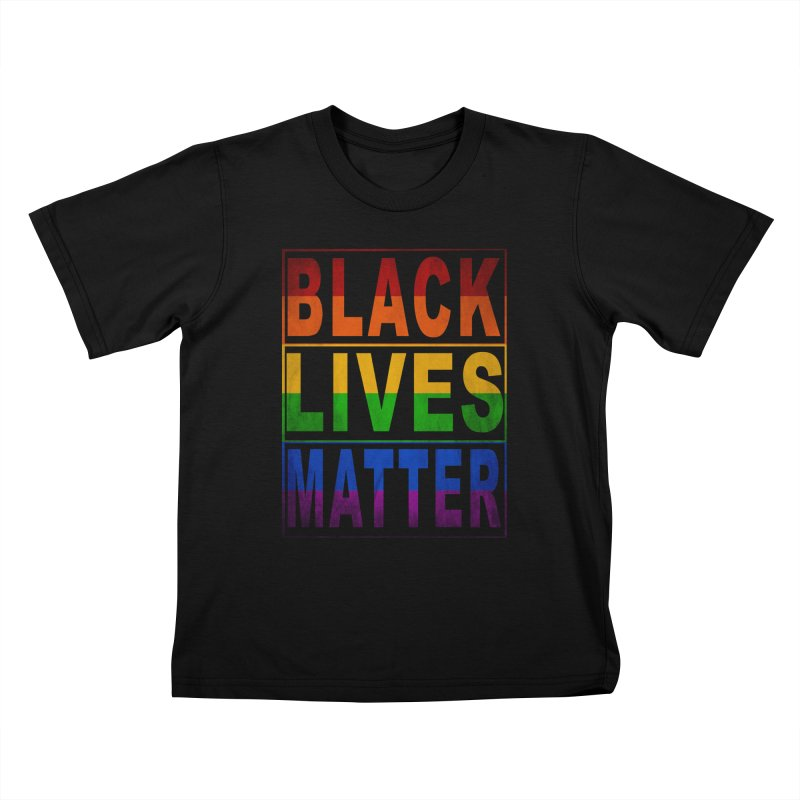 Black Lives Matter - Pride Kids T-Shirt by Cool Black Chick