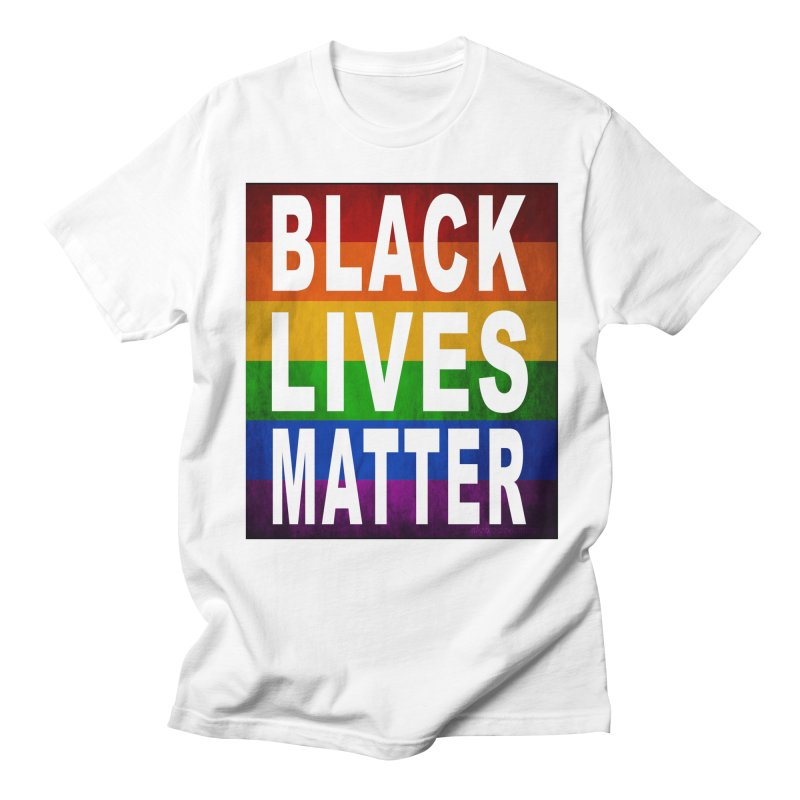 Black Lives Matter - Pride (2) in Men's Regular T-Shirt White by Cool Black Chick