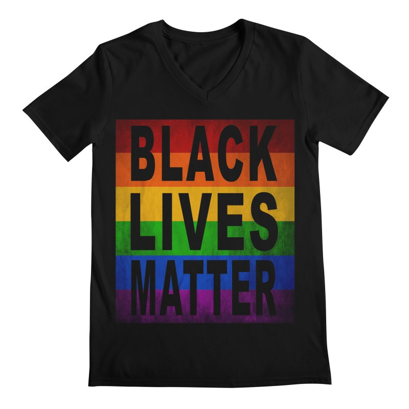 Black Lives Matter - Pride (2) Men's Regular V-Neck by Cool Black Chick