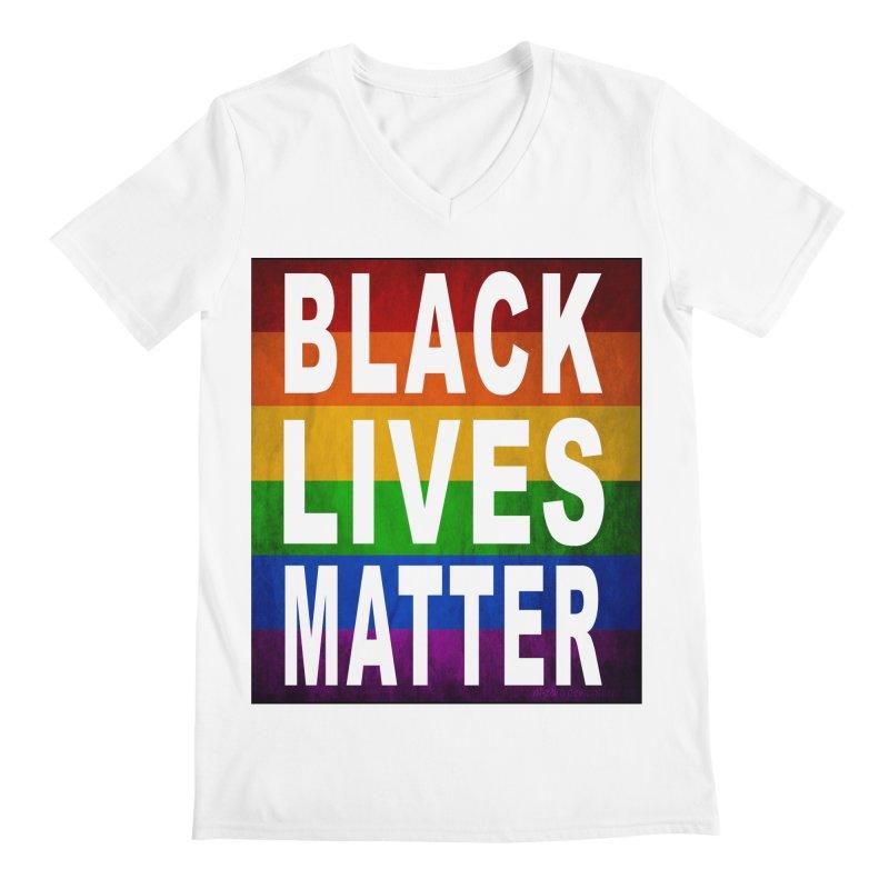 Black Lives Matter - Pride (2) Men's V-Neck by Cool Black Chick