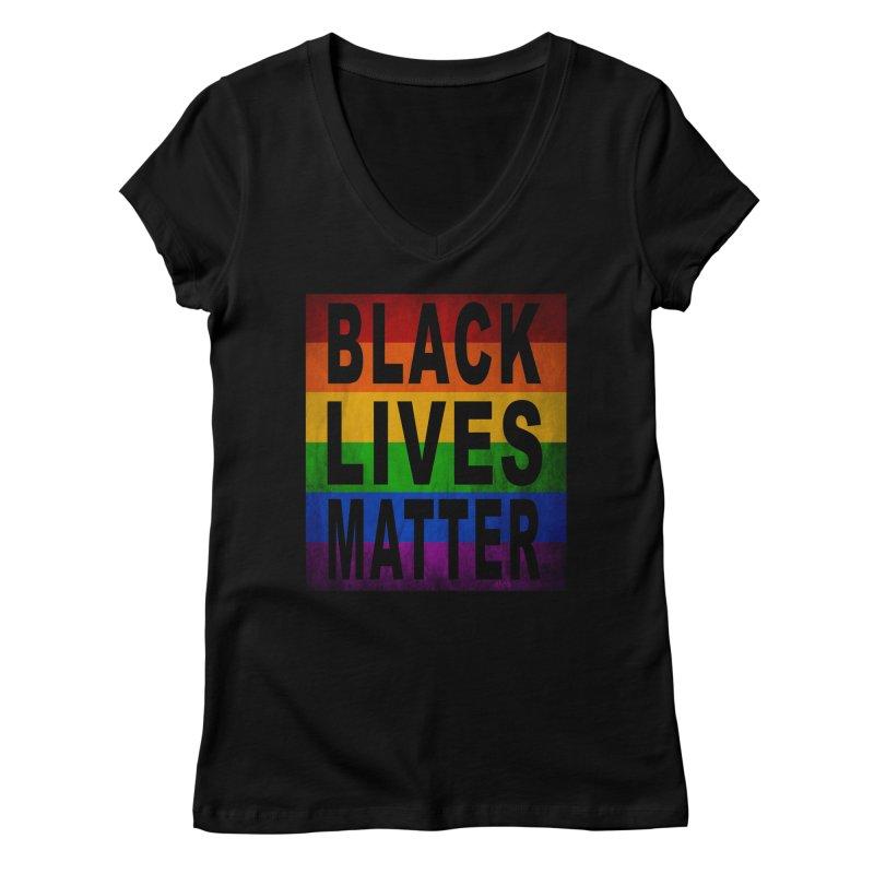 Black Lives Matter - Pride (2) Women's V-Neck by Cool Black Chick