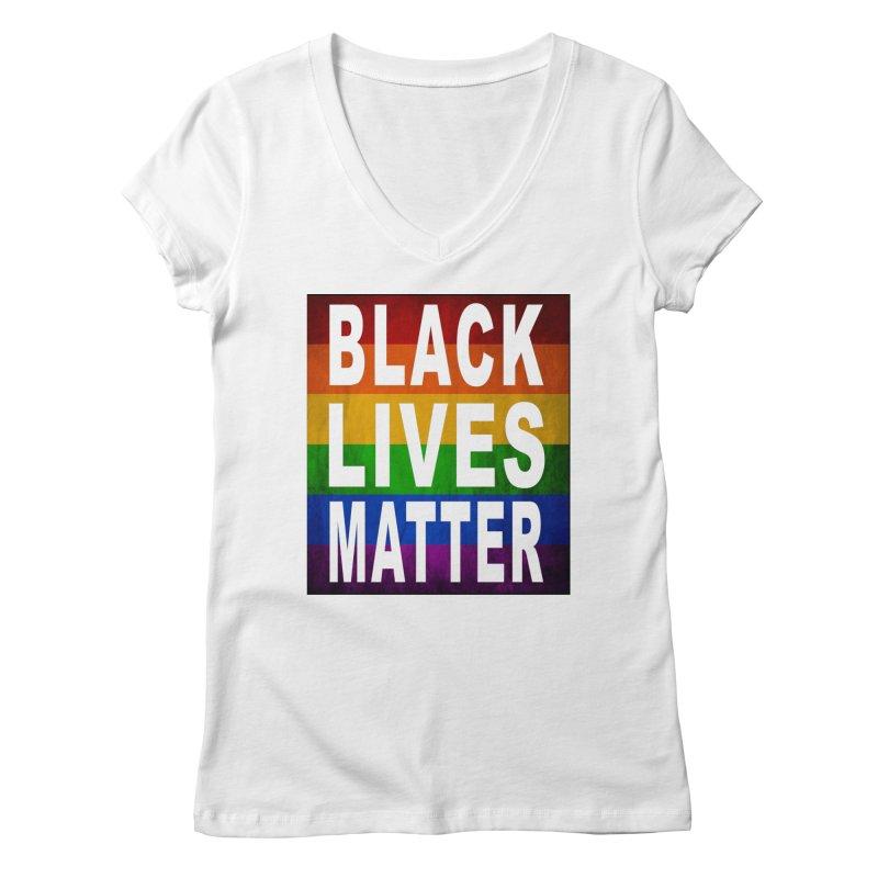Black Lives Matter - Pride (2) Women's Regular V-Neck by Cool Black Chick