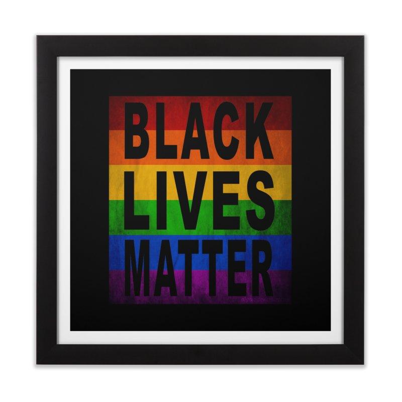 Black Lives Matter - Pride (2) Home Framed Fine Art Print by Black Liberation