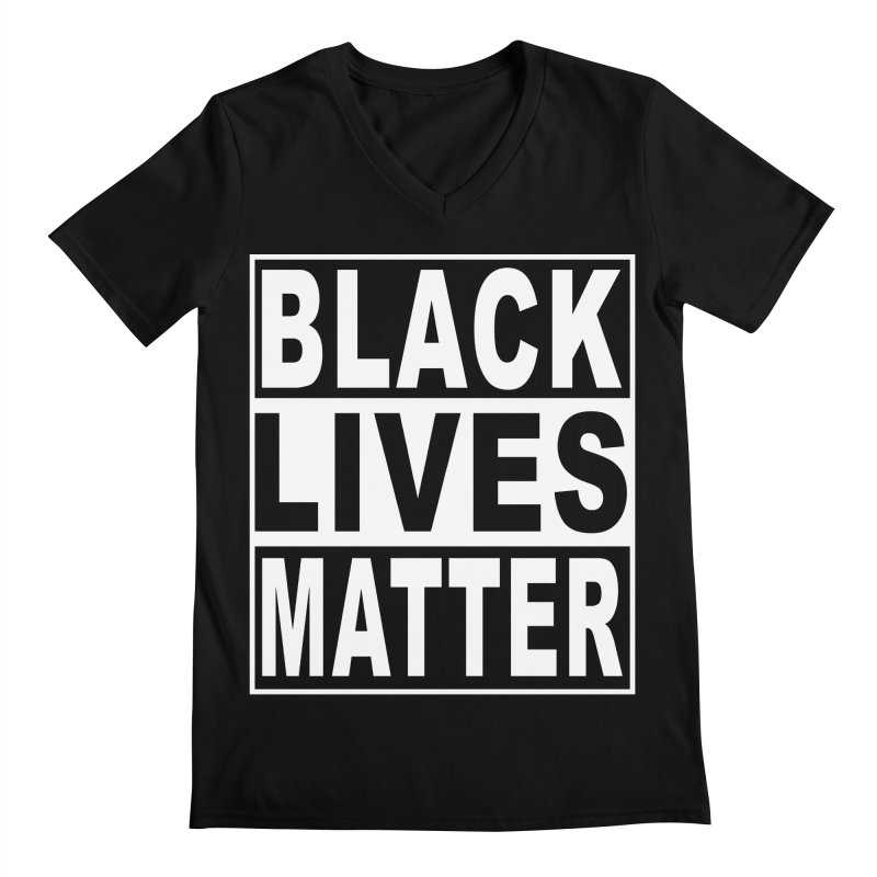 Black Lives Matter - Original Men's Regular V-Neck by Cool Black Chick