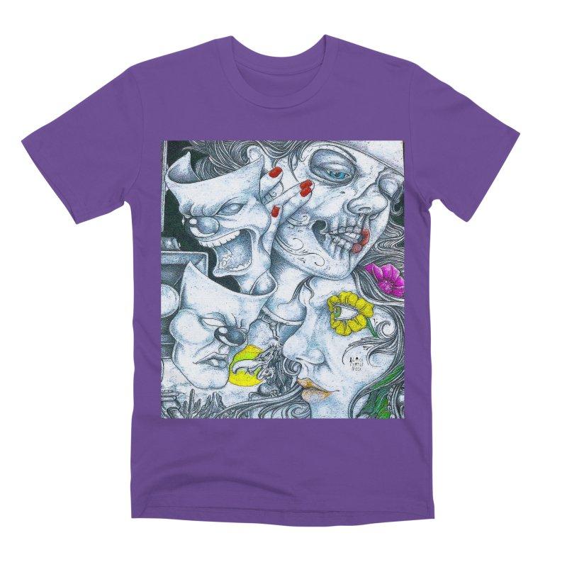 Faces Men's Premium T-Shirt by BLACK TVRTLE NECK