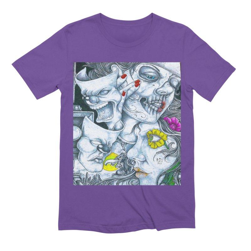 Faces Men's Extra Soft T-Shirt by BLACK TVRTLE NECK