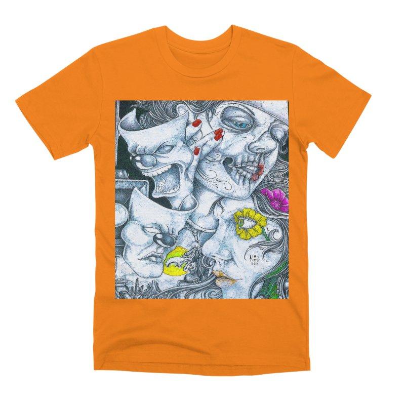 Faces Men's T-Shirt by BLACK TVRTLE NECK