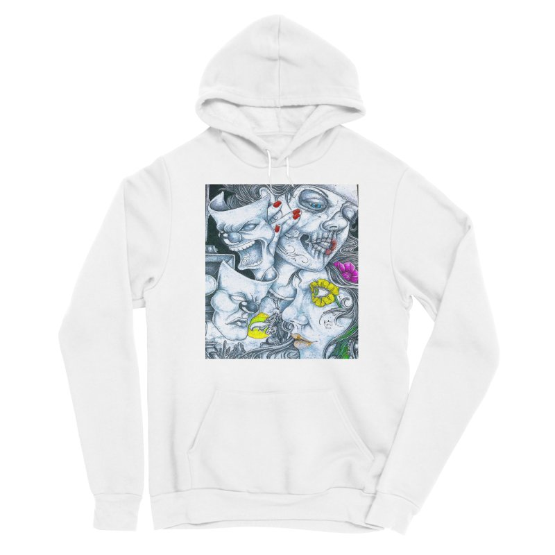 Faces Men's Pullover Hoody by BLACK TVRTLE NECK