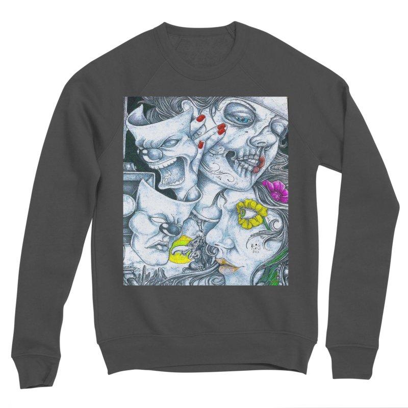 Faces Men's Sponge Fleece Sweatshirt by BLACK TVRTLE NECK