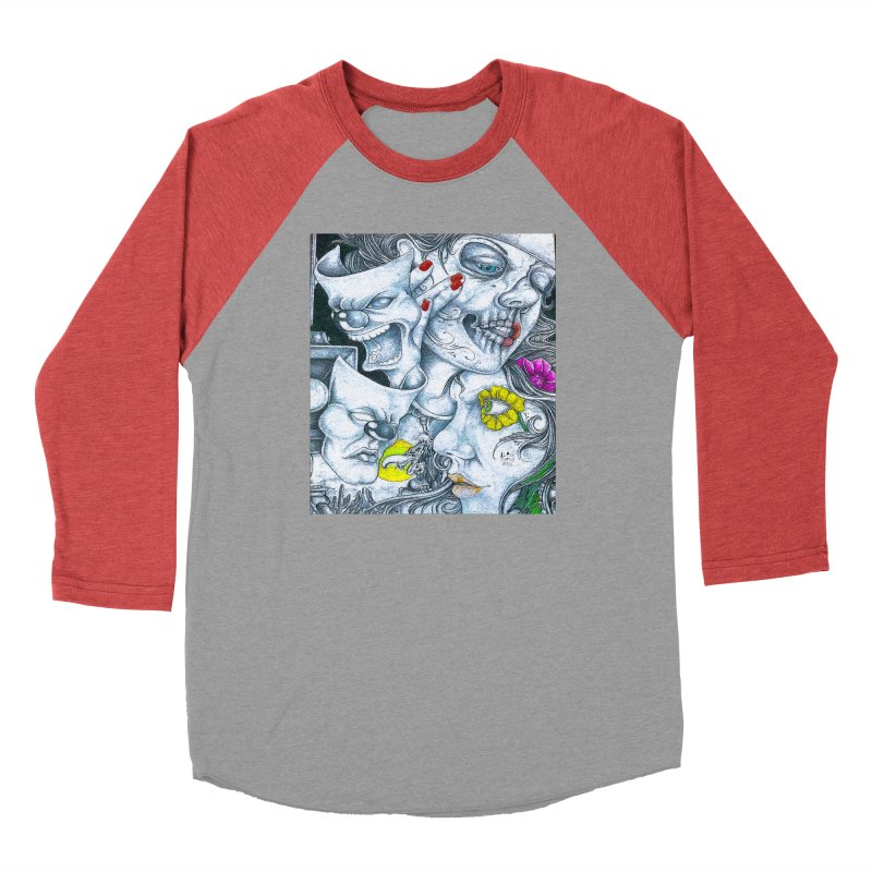 Faces Men's Longsleeve T-Shirt by BLACK TVRTLE NECK