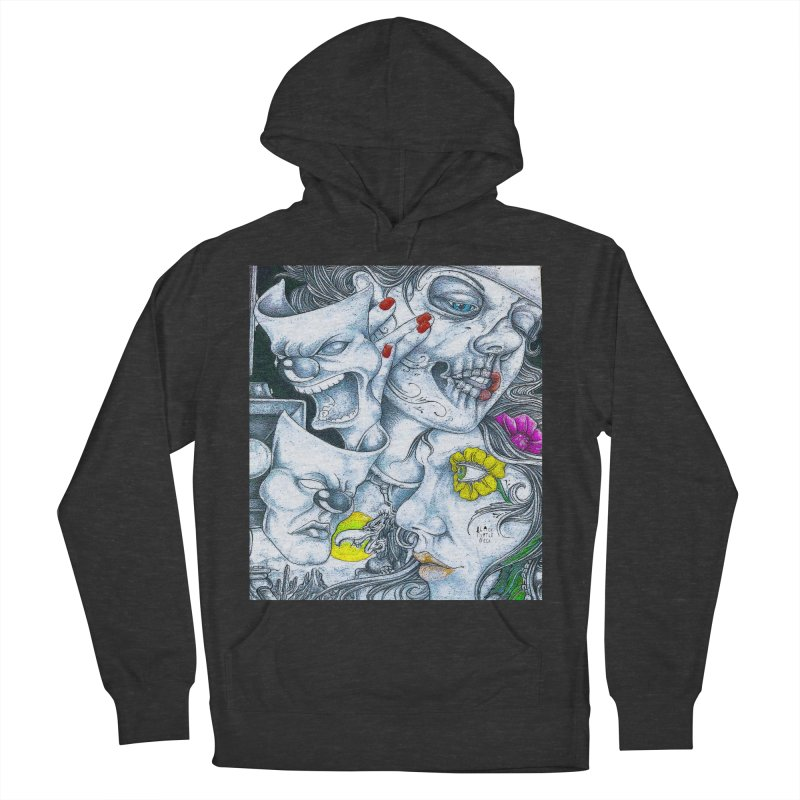 Faces Men's French Terry Pullover Hoody by BLACK TVRTLE NECK