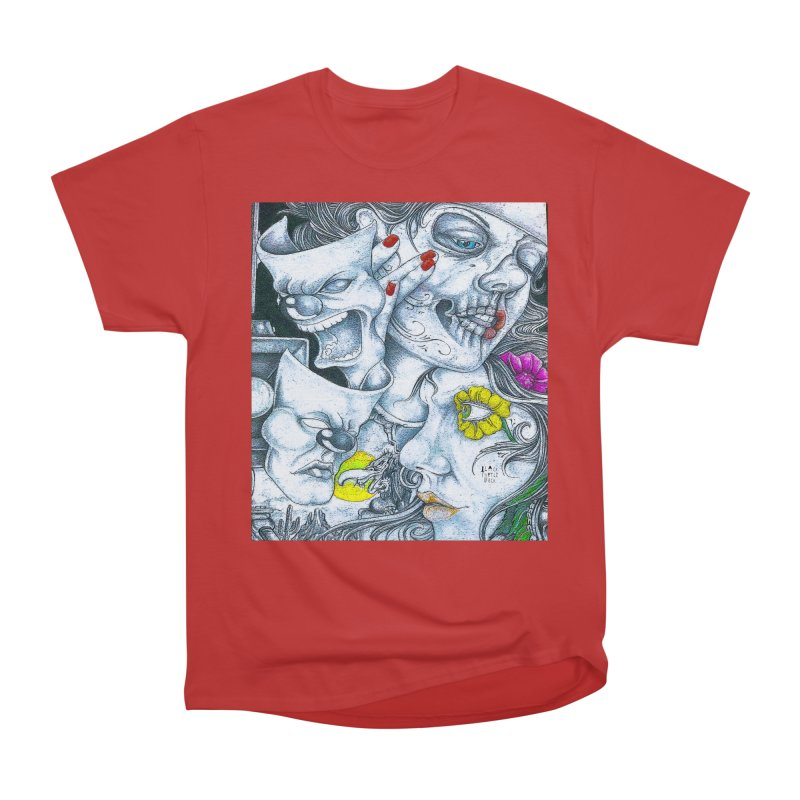 Faces Men's Heavyweight T-Shirt by BLACK TVRTLE NECK
