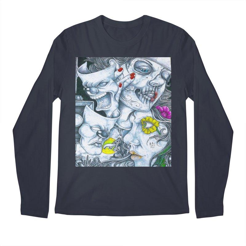 Faces Men's Regular Longsleeve T-Shirt by BLACK TVRTLE NECK