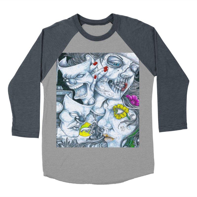 Faces Men's Baseball Triblend Longsleeve T-Shirt by BLACK TVRTLE NECK