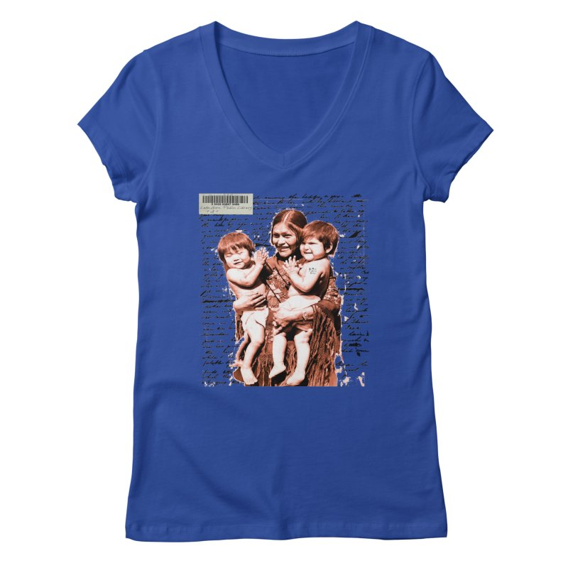 Shannon and her boys. Women's V-Neck by BLACK TVRTLE NECK