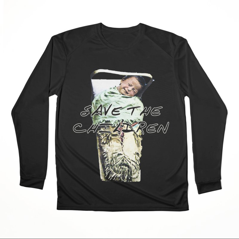Save the Children Men's Performance Longsleeve T-Shirt by BLACK TVRTLE NECK