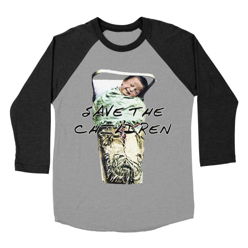 Save the Children Men's Baseball Triblend Longsleeve T-Shirt by BLACK TVRTLE NECK