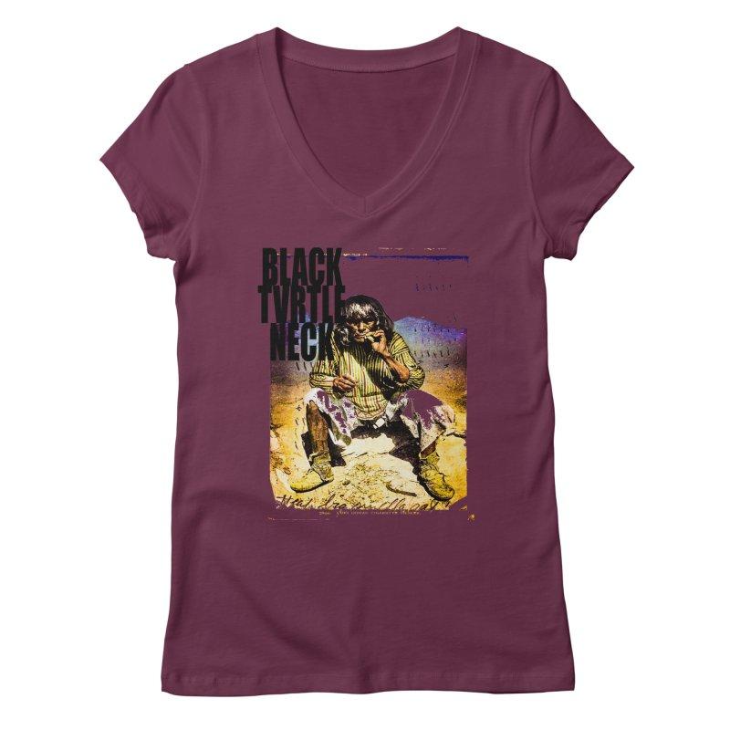 Indigenous Women's V-Neck by BLACK TVRTLE NECK