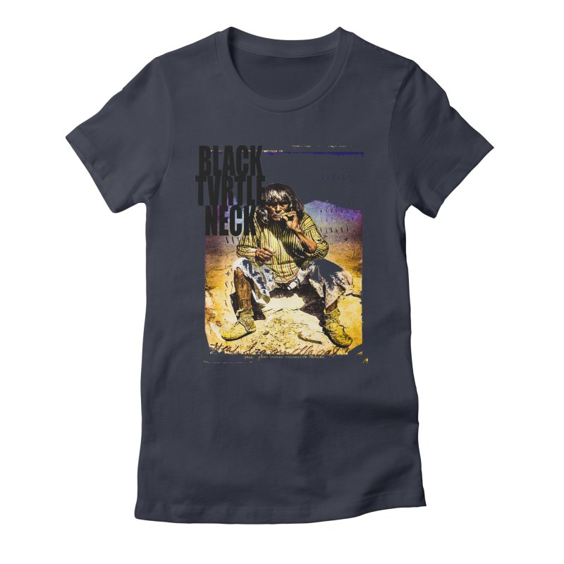 Indigenous Women's Fitted T-Shirt by BLACK TVRTLE NECK