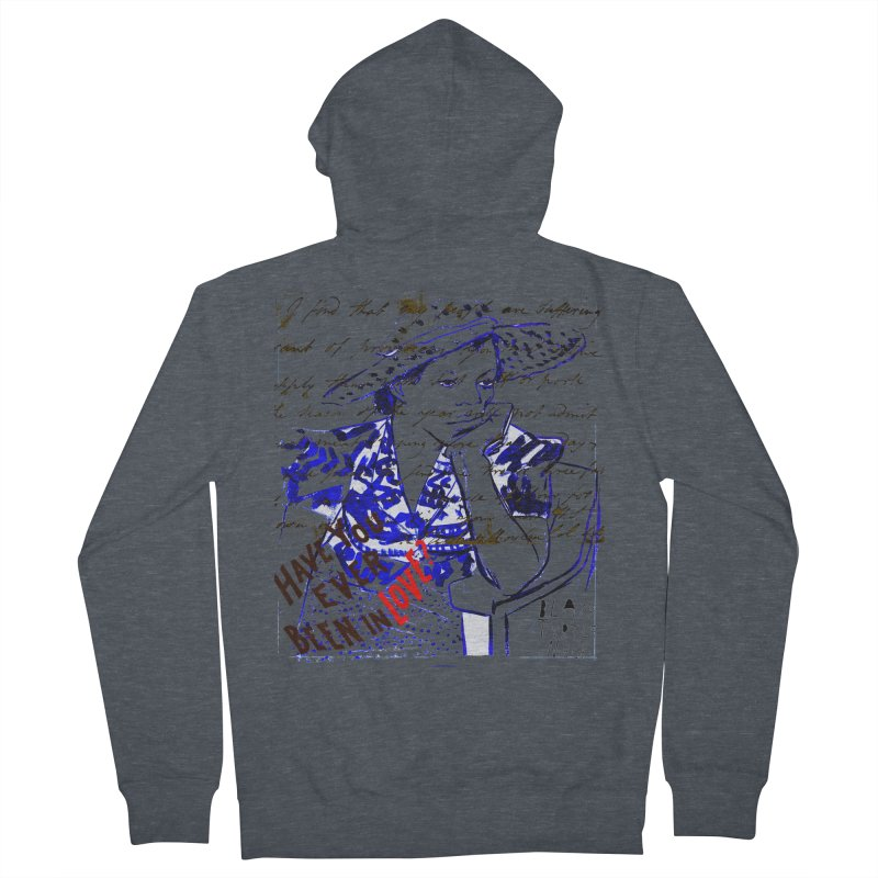 Have You? Men's French Terry Zip-Up Hoody by BLACK TVRTLE NECK