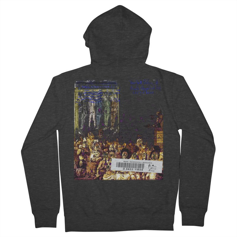 Overdue Library Book Men's French Terry Zip-Up Hoody by BLACK TVRTLE NECK