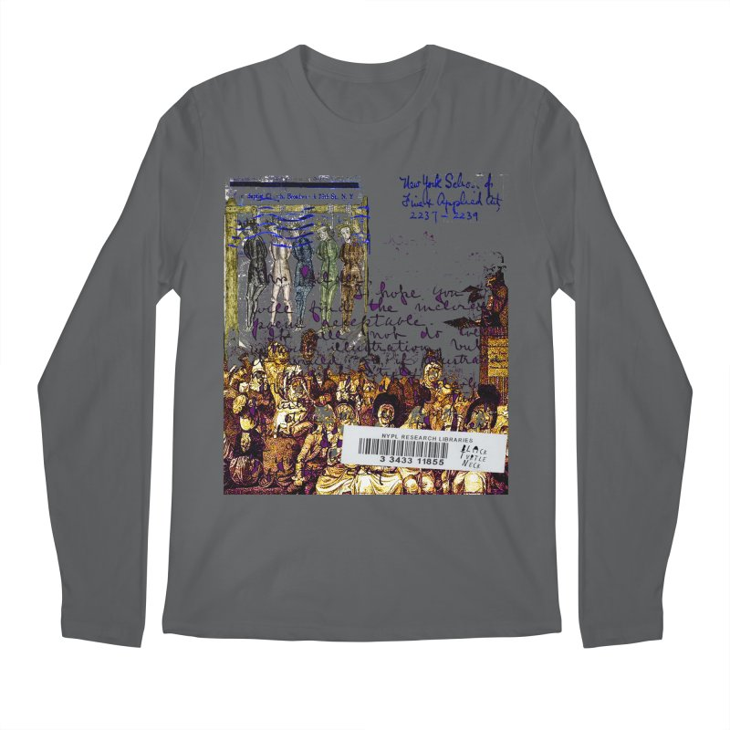 Overdue Library Book Men's Longsleeve T-Shirt by BLACK TVRTLE NECK