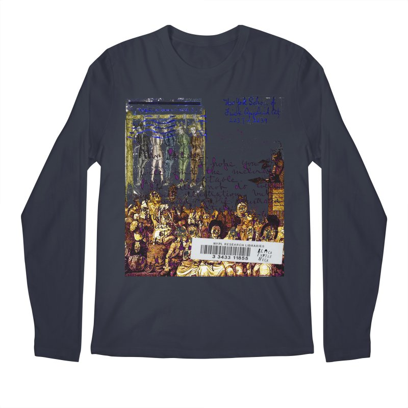 Overdue Library Book Men's Regular Longsleeve T-Shirt by BLACK TVRTLE NECK