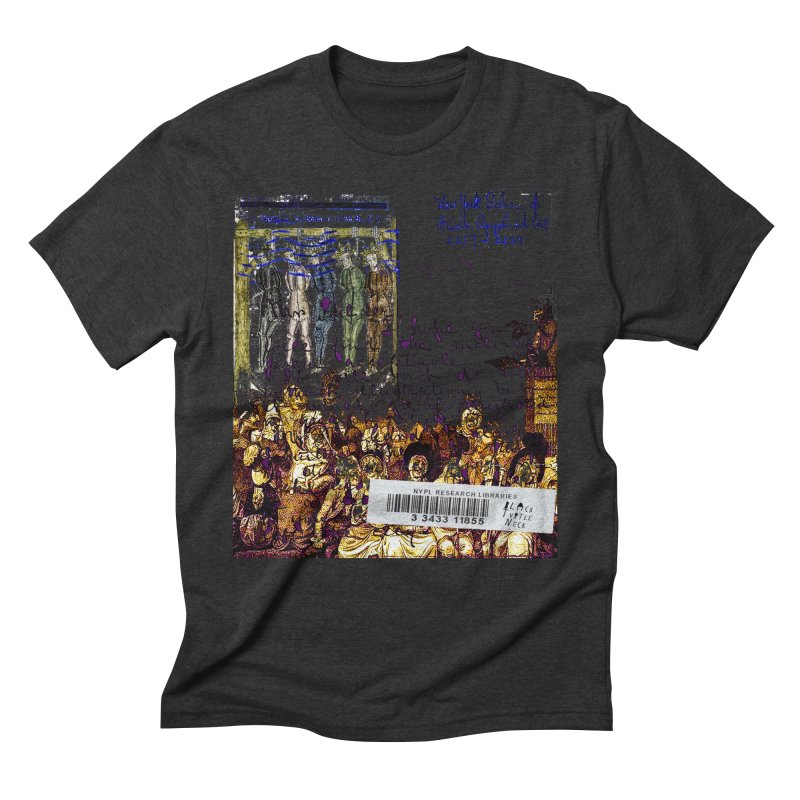 Overdue Library Book Men's Triblend T-Shirt by BLACK TVRTLE NECK