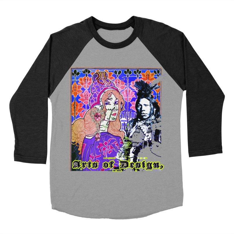 Arts of Design Men's Baseball Triblend Longsleeve T-Shirt by BLACK TVRTLE NECK