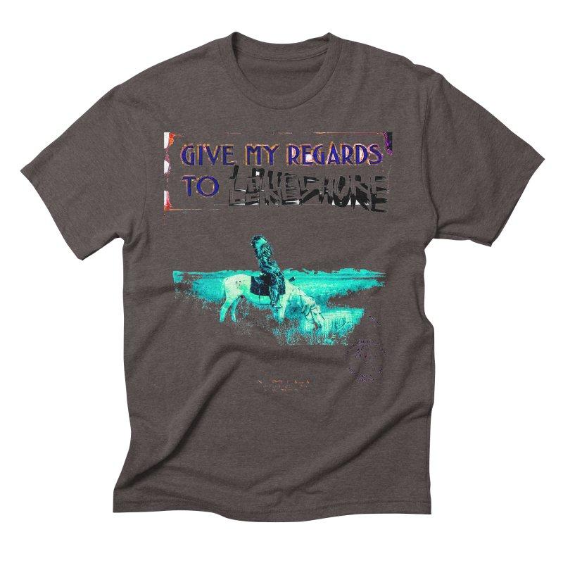 Regards Men's Triblend T-Shirt by BLACK TVRTLE NECK