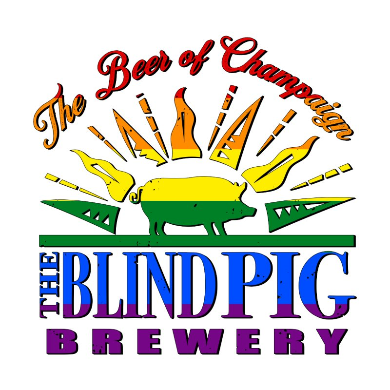 Blind Pig Brewery Pride Pig Logo Men's T-Shirt by Blind Pig Brewery Emporium of Fancy Stuff & Things
