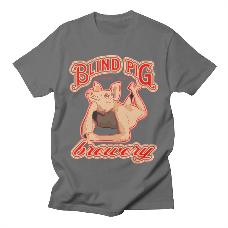 Blind Pig Brewery neon pork butt Men's T-Shirt by Blind Pig Brewery Emporium of Fancy Stuff & Things