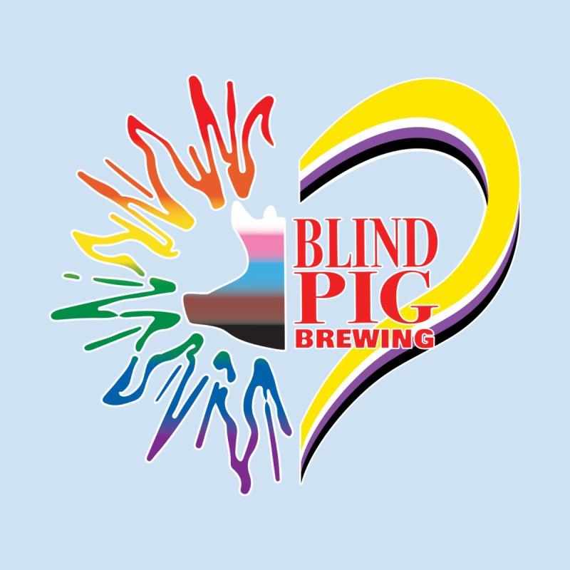Blind Pig Brewing PRIDE spluffle design Men's T-Shirt by Blind Pig Brewing Emporium of Fancy Stuff & Things