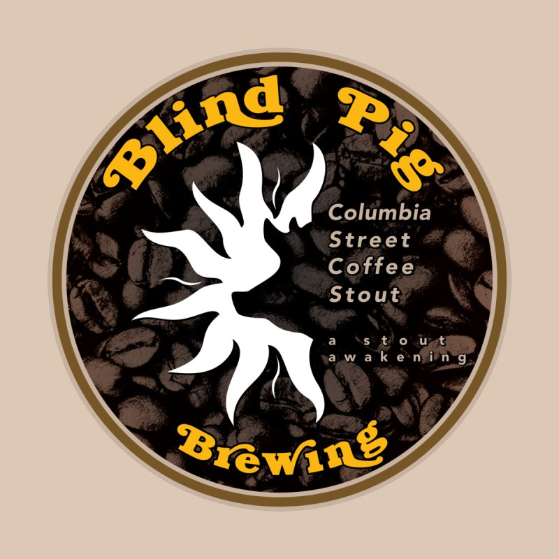 NEW Blind Pig Brewing Columbia Street Coffee Stout can label design Home Rug by Blind Pig Brewing Emporium of Fancy Stuff & Things