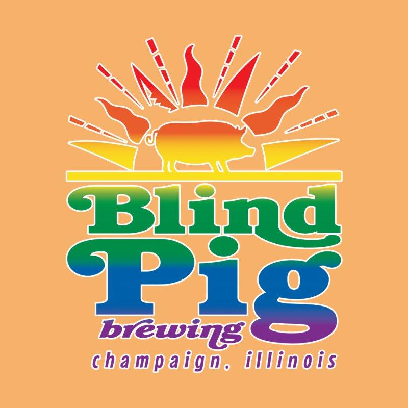 Sunrise Pride Pig Women's Zip-Up Hoody by Blind Pig Brewing Emporium of Fancy Stuff & Things