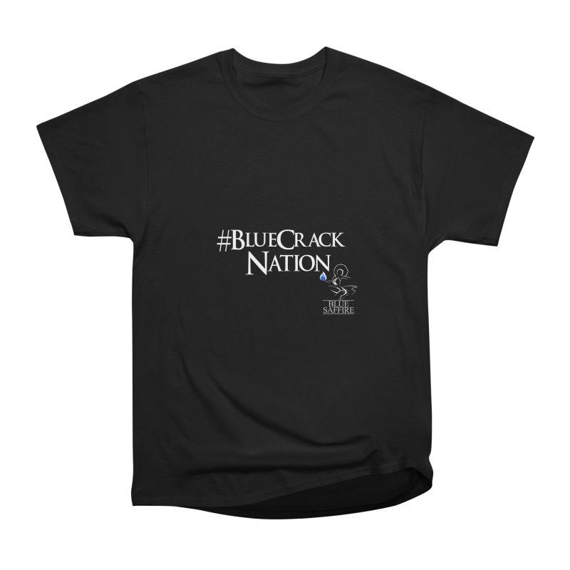 Blue Crack Nation Women's Heavyweight Unisex T-Shirt by Blue Saffire's Artist Shop
