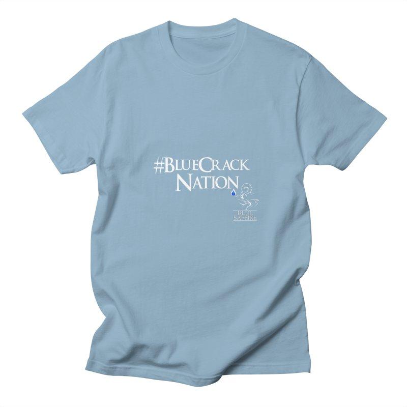 Blue Crack Nation Women's Regular Unisex T-Shirt by Blue Saffire's Artist Shop