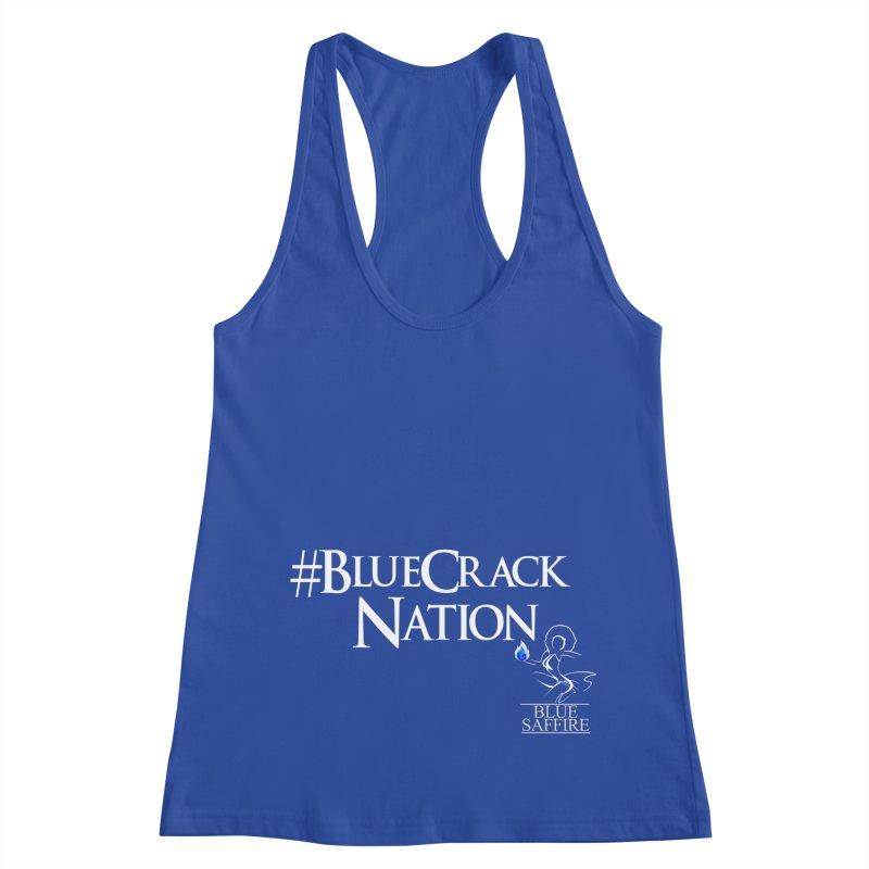Blue Crack Nation Women's Racerback Tank by Blue Saffire's Artist Shop