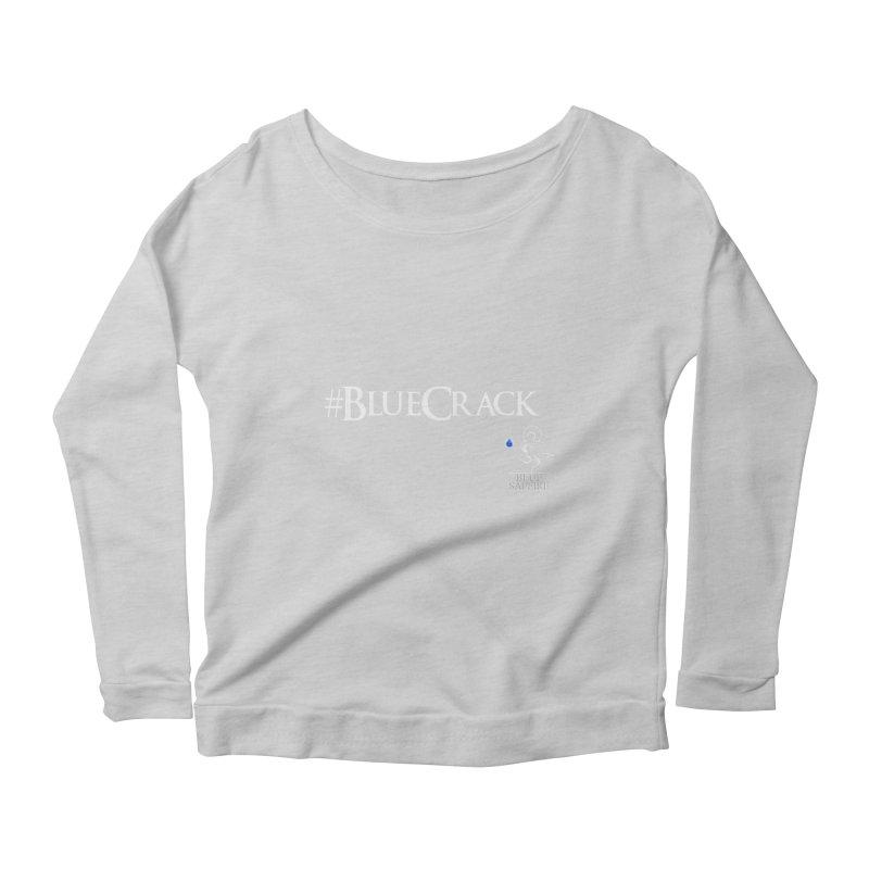 Blue Crack Tees Women's Scoop Neck Longsleeve T-Shirt by Blue Saffire's Artist Shop