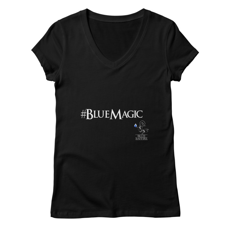 Blue Magic Tee Women's V-Neck by Blue Saffire's Artist Shop