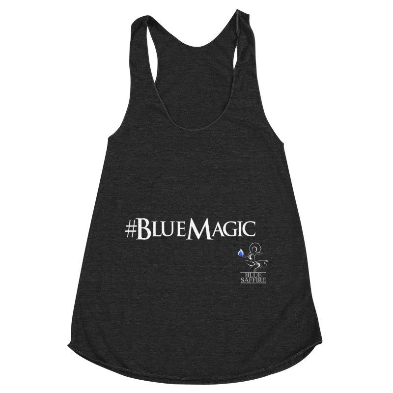 Blue Magic Tee Women's Racerback Triblend Tank by Blue Saffire's Artist Shop