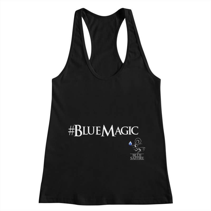 Blue Magic Tee Women's Racerback Tank by Blue Saffire's Artist Shop